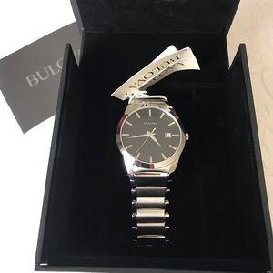 Bulova mens silver watch BRAND NEW